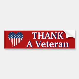 Agradezca a un veterano pegatina para auto