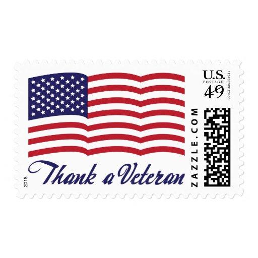 Agradezca a un veterano sello