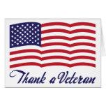 Agradezca a un veterano tarjetón