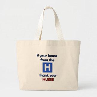 Agradezca a una enfermera bolsa de mano