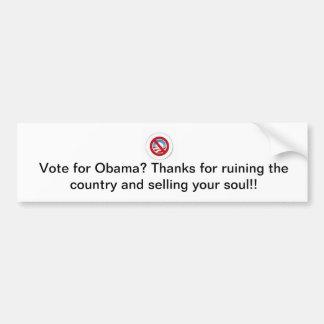 Agradezca al votante de Obama (no!) Pegatina Para Auto