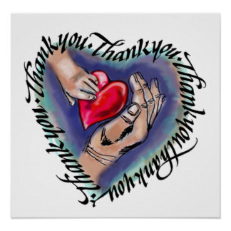 Agradezca el corazón completo, poster