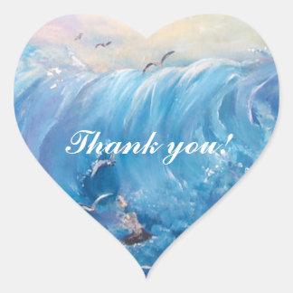 agradezca el youSticker Pegatina En Forma De Corazón