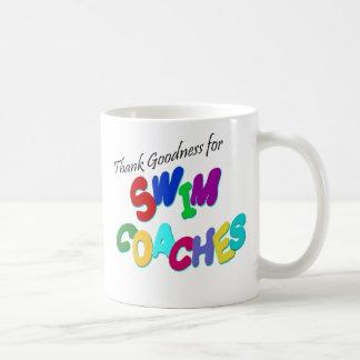 Agradezca la calidad por coches de la nadada tazas de café