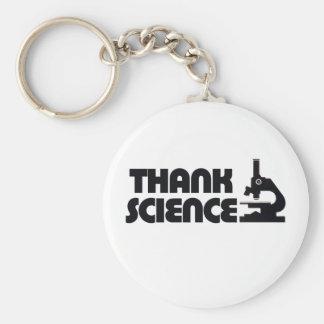 Agradezca la ciencia llavero personalizado