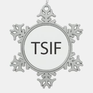 Agradezca la ciencia que es Friday.ai Adorno De Peltre En Forma De Copo De Nieve