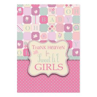 Agradezca la etiqueta del regalo del chica del tarjetas de visita grandes