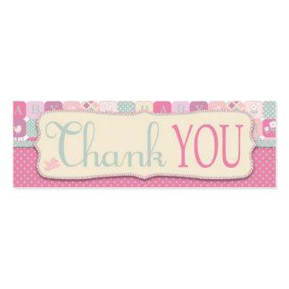 Agradezca la etiqueta flaca del regalo de los tarjetas de visita mini