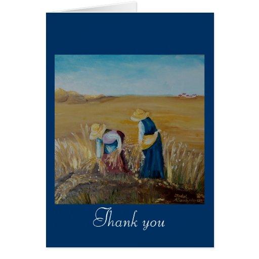 agradezca la usted-tarjeta tarjeta de felicitación