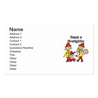 Agradezca las camisetas y los regalos de un tarjetas de visita
