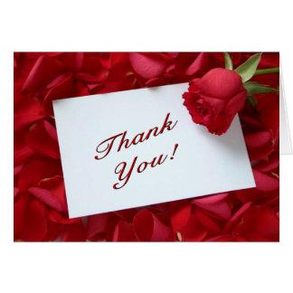 Agradezca su nota tarjeta de felicitación