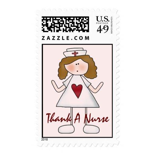 Agradezca un oficio de enfermera lindo de la sellos