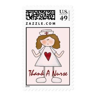 Agradezca un oficio de enfermera lindo de la timbres postales