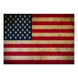 Agradezca una bandera americana de los E.E.U.U. de Tarjetas