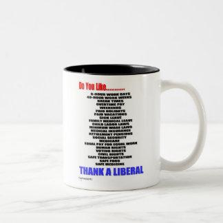 Agradezca una taza de café liberal