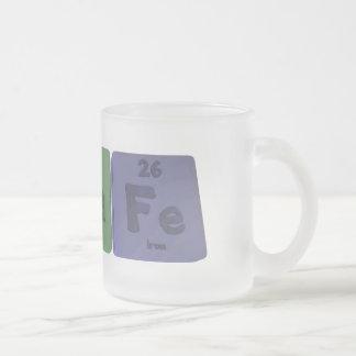 Agrafe-Ag-Ra-Fe-Silver-Radium-Iron Frosted Glass Coffee Mug