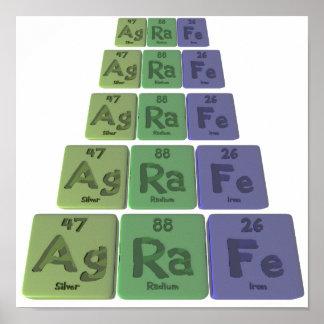 Agrafe-Ag-Ra-Fe-Silver-Radium-Iron Poster