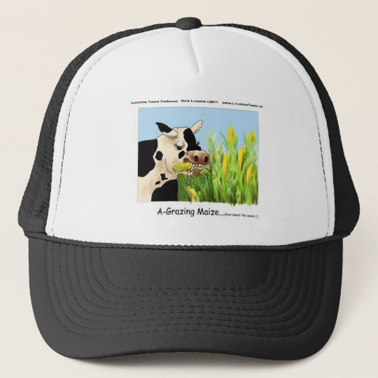 Agrazing Maize (Funny Cow Gifts Cards Tees Etc) Trucker Hat