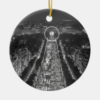 Agree, Paris, France Double-Sided Ceramic Round Christmas Ornament