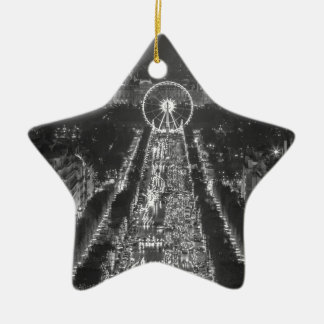 Agree, Paris, France Double-Sided Star Ceramic Christmas Ornament