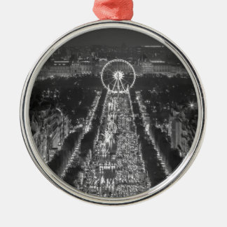 Agree, Paris, France Round Metal Christmas Ornament