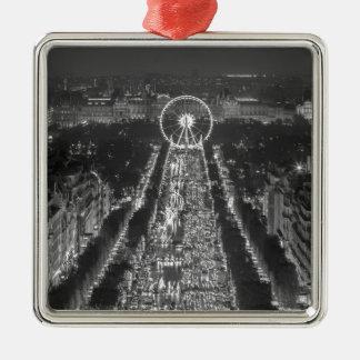 Agree, Paris, France Square Metal Christmas Ornament