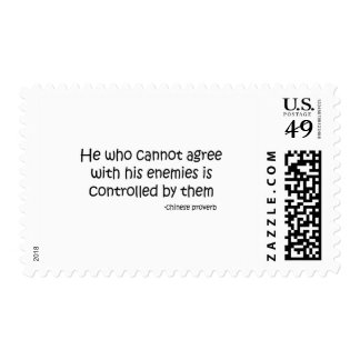 Agree with Enemies quote Postage