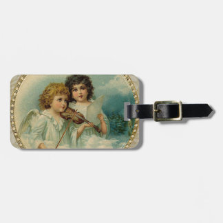 Agreeable - Two Little Musical Angels Tags For Luggage