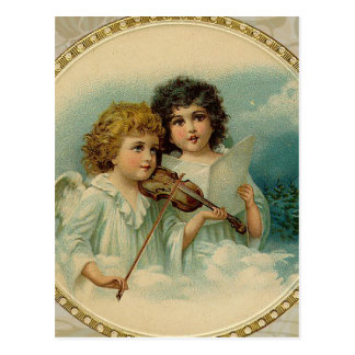 Agreeable - Two Little Musical Angels Postcard