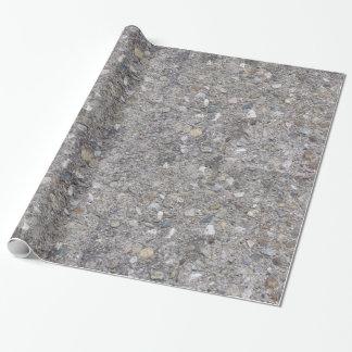 Agregado expuesto (impreso, no hecho del hormigón) papel de regalo
