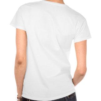 Agresivo pasivo en blanco camiseta