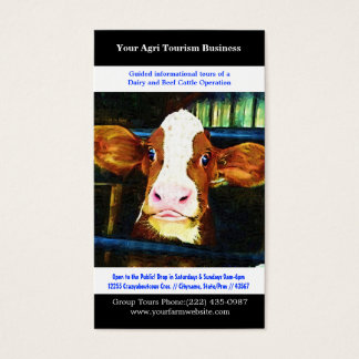 Agri Tourism Agricultural Dairy Beef Farming Business Card
