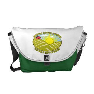 Agricultura biológica de la ayuda bolsas de mensajeria