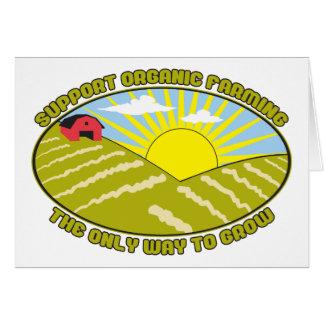 Agricultura biológica de la ayuda tarjeta