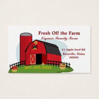 Agricultura biológica fresca tarjeta de negocios