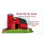 Agricultura biológica fresca tarjeta de visita