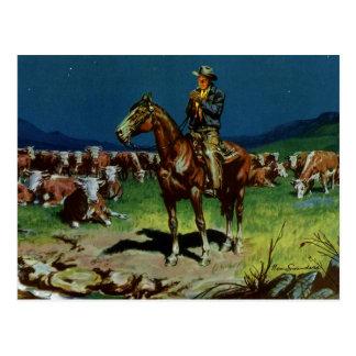 Agricultura del vintage vaquero del ranchero del