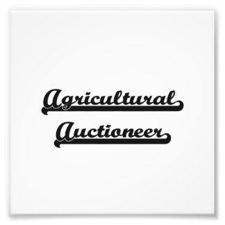 Agricultural Auctioneer Artistic Job Design Photo Print