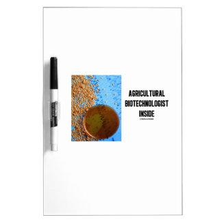 Agricultural Biotechnologist Inside (Genetic) Dry Erase Board