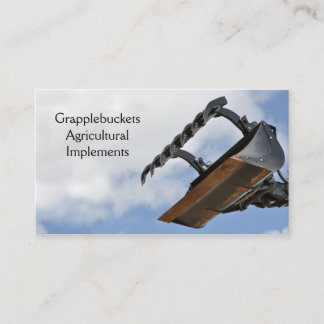 Agricultural claw grab fork business card