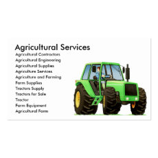 Agricultural Contractor - Farm and Farming Custom Business Card