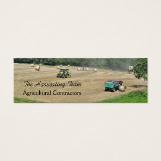 Agricultural contractor version2 mini business card