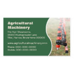 Agricultural crop sprayer business card