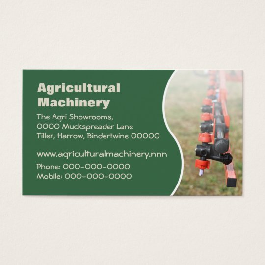 Agricultural crop spraying arm business card zazzle agricultural crop spraying arm business card reheart Images