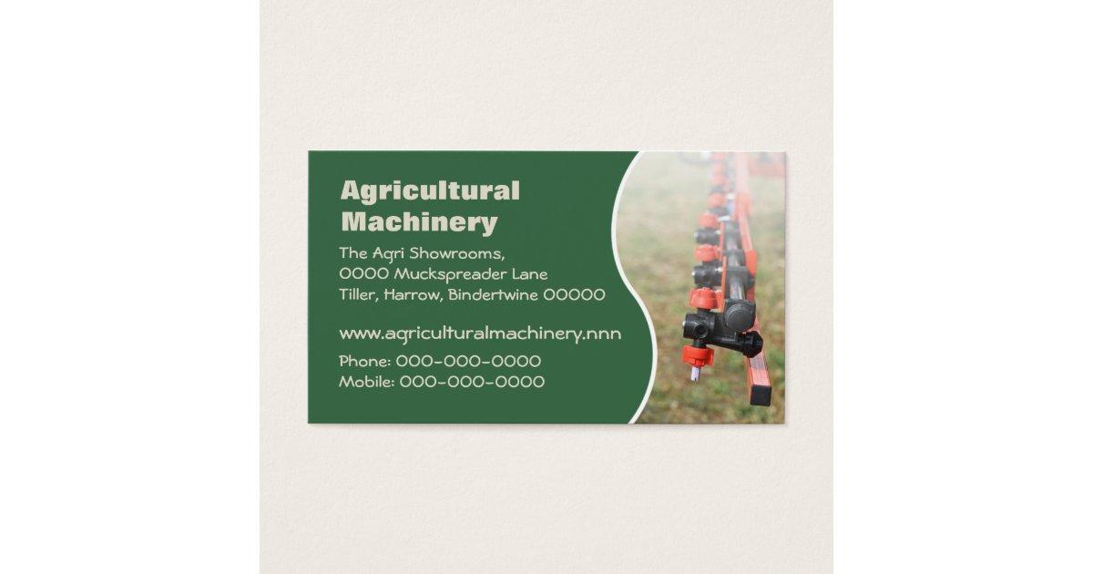 Farm Machinery Business Cards & Templates | Zazzle