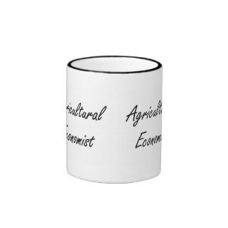 Agricultural Economist Artistic Job Design Ringer Coffee Mug