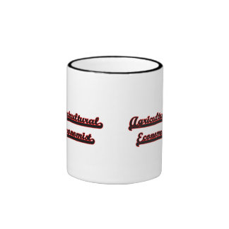 Agricultural Economist Classic Job Design Ringer Coffee Mug
