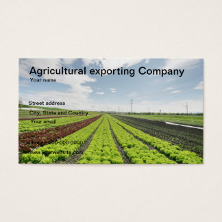 Agricultural exporting company business card
