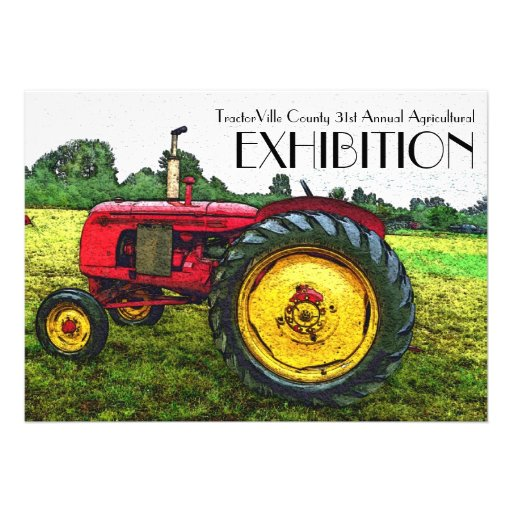Agricultural fair, Tractor Pull, Exhibition Custom Announcement