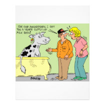 AGRICULTURAL FARMER HUSBAND / WIFE CARTOON HUMOR FLYER